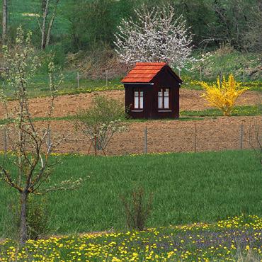 Petit jardin de campagne for Petit cabanon de jardin
