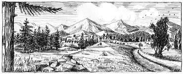 Comment dessiner un paysage de montagne - Dessin de montagne ...